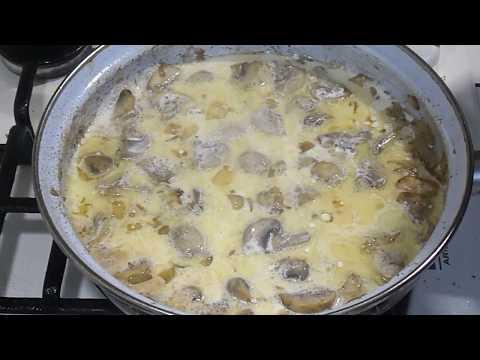 куриное филе в сливочном соусе с грибами