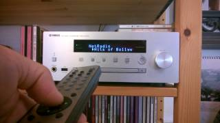 Network Radio on Yamaha CRX-N570D Network Receiver. Demo through remote controller only.