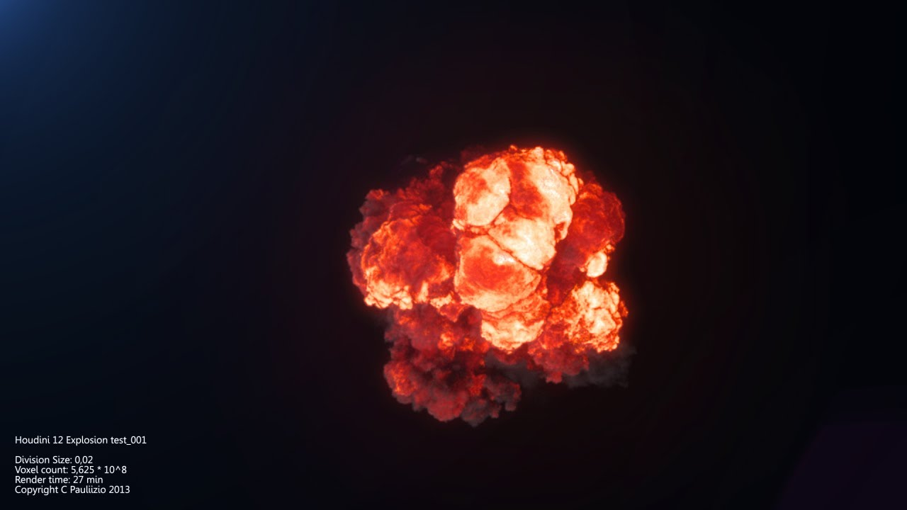 Houdini 12 PyroFX Explosion 1 [Project files included]