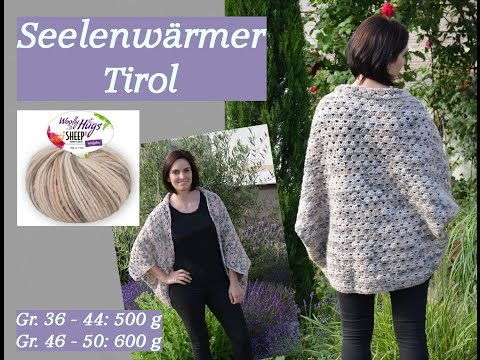 Häkeln – Seelenwärmer TIROL  –  Woolly Hugs SHEEP Veronika Hug