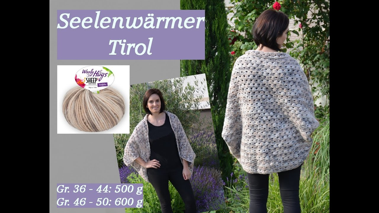 Häkeln - Seelenwärmer TIROL - Woolly Hugs SHEEP Veronika Hug - YouTube