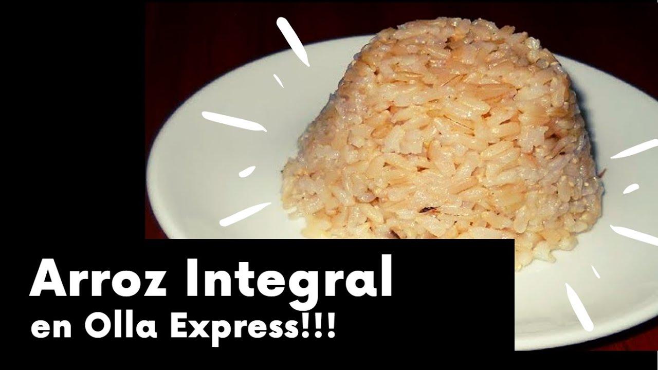 Arroz integral en olla express youtube - Judias pintas con arroz olla express ...