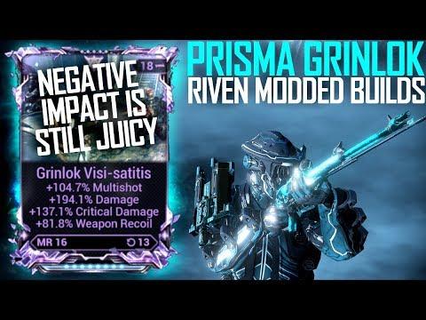 [Warframe] PRISMA GRINLOK RIVEN MODDED [HM build, Gas, & -imp] thumbnail