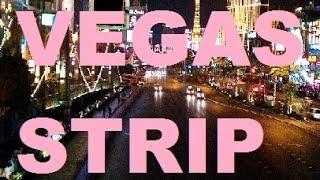 Riding down las vegas strip on deuce bus (night) ($2.50) stratosphere to mandalay bay