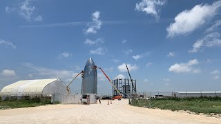 Live at SpaceX Boca Chica Starship Construction