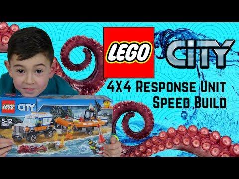 Lego City Coast Guard - 4x4 Response Unit Speed Build