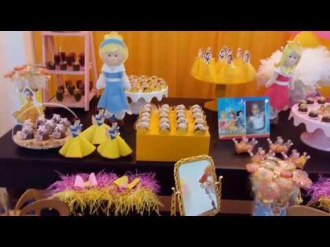Decoração Infantil Tema Princesas Disney