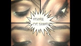。◕‿◕。Neutral EyeTutorial using Maybelline Diamond Glow Quad(COPPER BROWN)。◕‿◕。