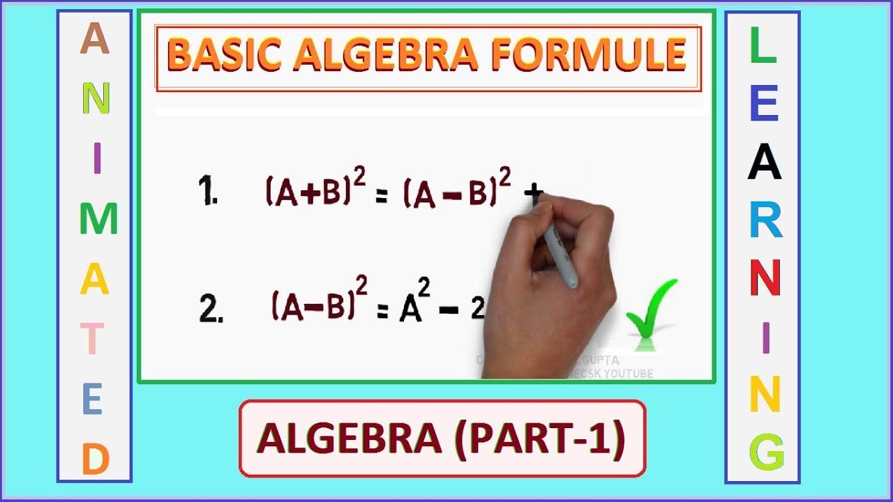 Basic Algebra Formulas | Part 1 | (Maths Formulas) | SSC MATHS ...