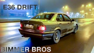 BMW E36 Beginners Street Drift in Estonia + First Snow of 2018