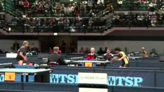 Table Tennis Veterans WC 2006 Bremen Finale2Branca Batinic Larisa Farina