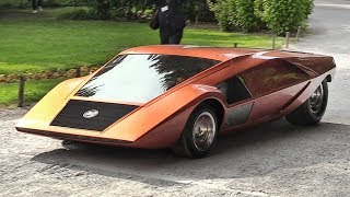 1970 Lancia Stratos Zero: A crazy concept from the Wedge Era - Sound & Driving on the Streets!