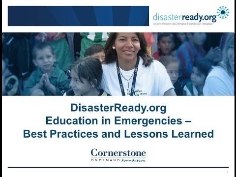 RECORDED WEBINAR: Education in Emergencies: Best Practices and Lessons Learned