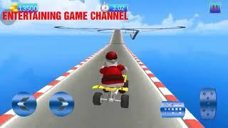 CRAZY SANTA 🎅  IMPOSSIBLE ATV BIKE STUNTS # SANTA VIDEO GAMES FOR KIDS CHILDREN #BIKE    CAR RACING