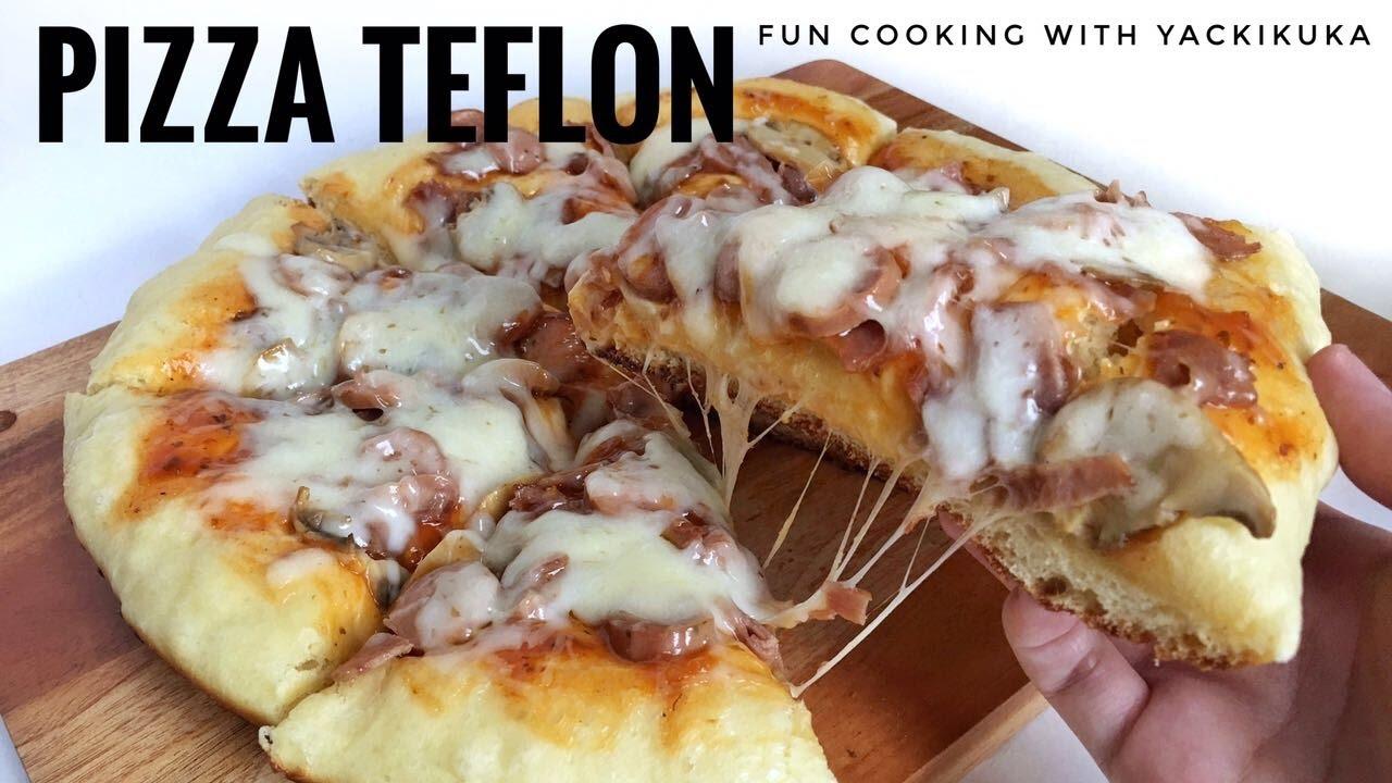 Pizza Teflon Empuk Pizza On Pan Recipe Youtube