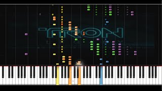 """Tron: Legacy - """"Outlands"""" (by Daft Punk) - Synthesia Tutorial"""