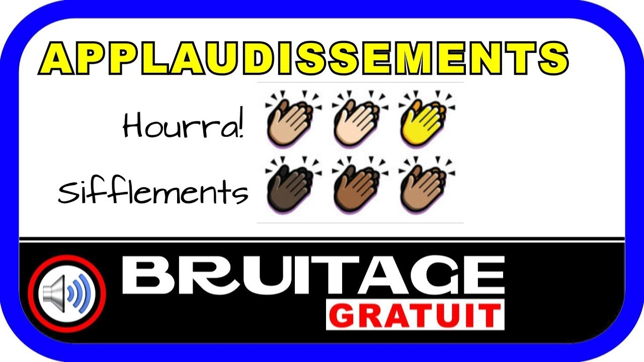bruitages applaudissements