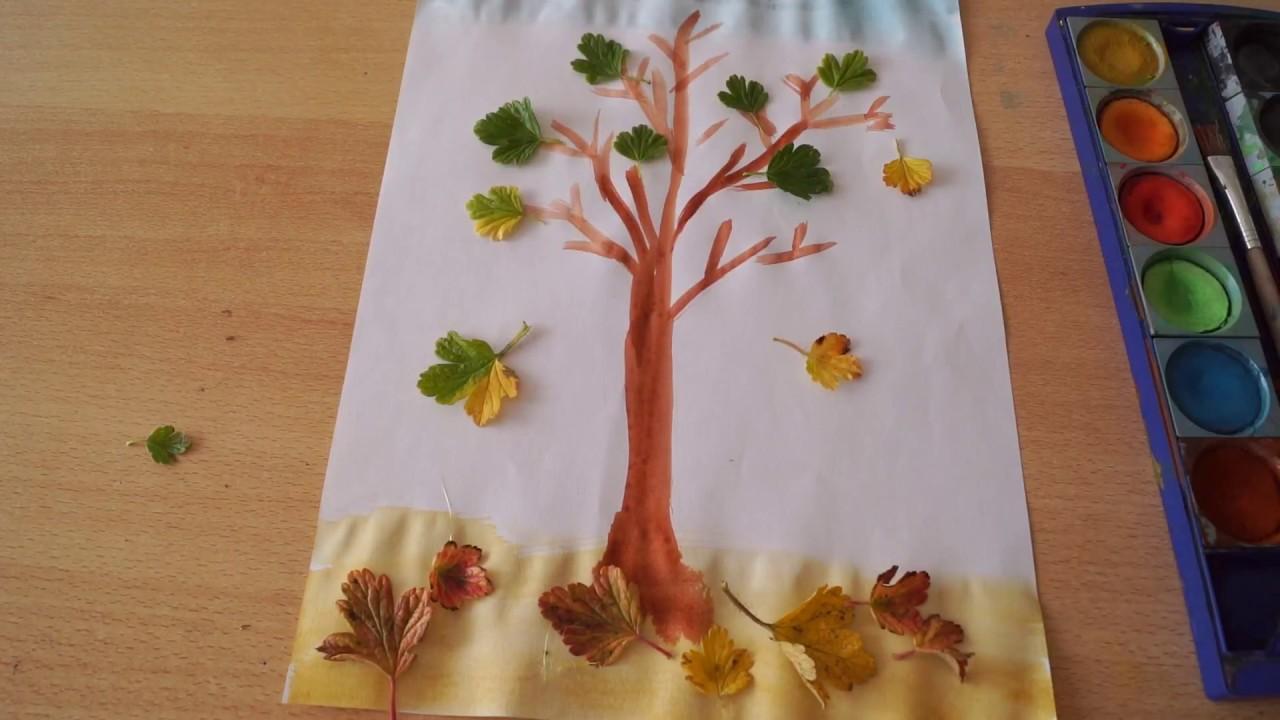 baum malen idee zum basteln f r kinder diy for kids how to make tree deco. Black Bedroom Furniture Sets. Home Design Ideas