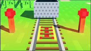 стив  строит железную дорогу.#Майнкрафт