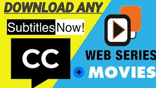 How to Download English Subtitles for Any Web series    Movies Series subtitles easily 2020