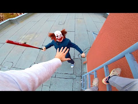 Horror Clowns VS Parkour POV | Halloween Chase III