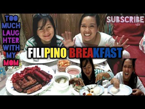 BEST FILIPINO BREAKFAST | MUKBANG | kuwait (mother and daughter)