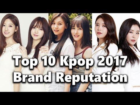[TOP 10] Kpop Girl Group Brand Reputation Rankings 2017