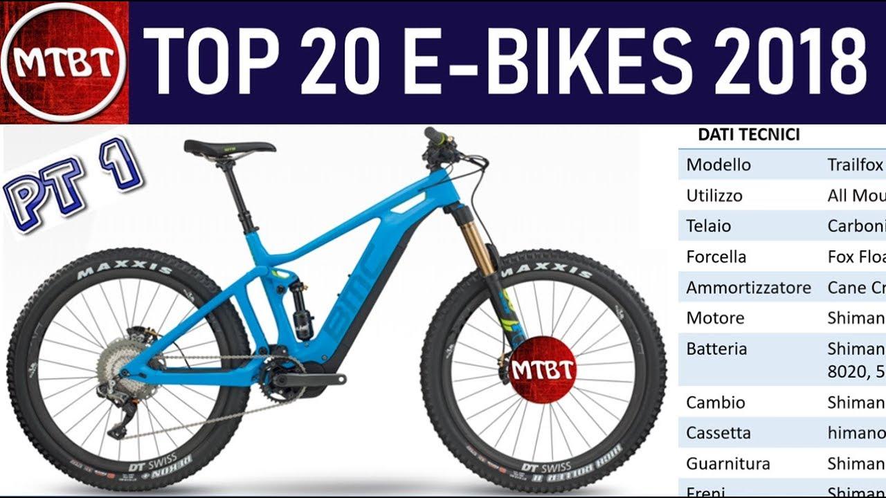 e bikes top 20 modelli 2018 mountain bike elettriche parte 1 mtbt youtube. Black Bedroom Furniture Sets. Home Design Ideas