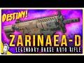 Zarinaea-D Legendary Hakke Auto Rifle   Gameplay Review   Destiny (The Taken King)