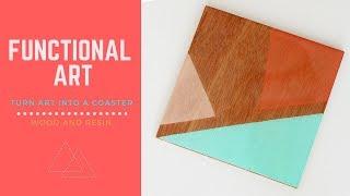 Resin Tutorial: Wood and Resin Coaster - Minimalist Design - Modern Home - ArtResin