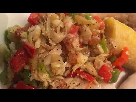 JAMAICAN SALT FISH RECIPE | HOW TO MAKE SALT FISH (CODFISH RECIPE)