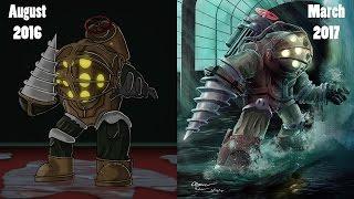 Draw it Again Challenge! -  (Bioshock fan art) | speedpaint