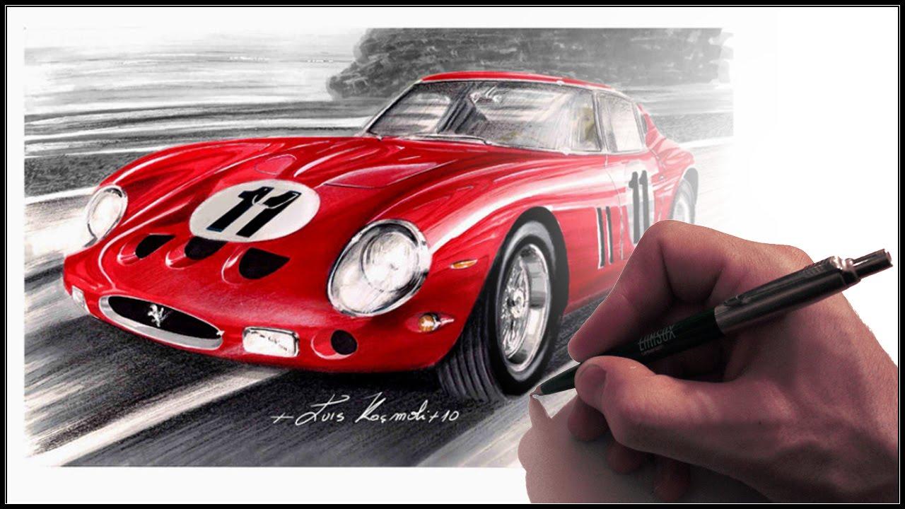 Ferrari 250 GTO '62   drawing demo - YouTube