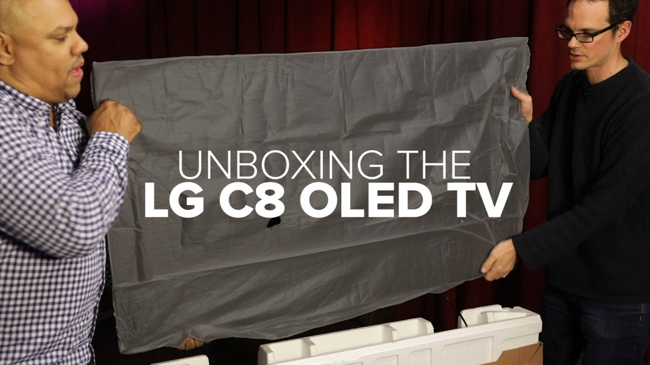 unboxing the lg c8 oled tv youtube