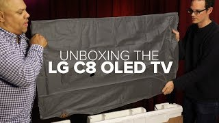 Unboxing the LG C8 OLED TV