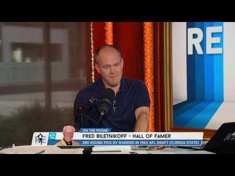 Pro HOFer Fred Biletnikoff talks Franco Harris INT - 8/9/16