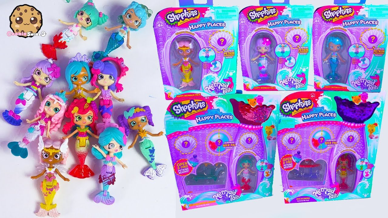 Mermaid Party ! Shopkins Happy Places Water Color Changing ...