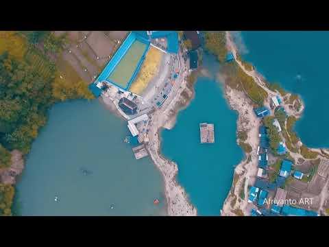 objek-wisata-keren-danau-biru-tangerang-drone