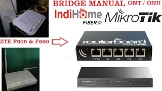 Cara Merubah ONT ZTE F609 ke Mode Bridge secara manual