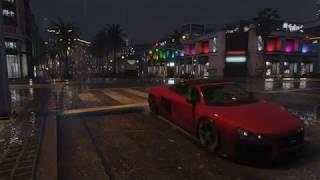 Rain and thunder GTA 5 live wallpaper (4K UHD GTA V time lapse)