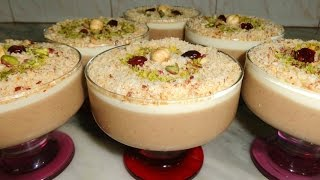 Crème assida aux noisettes  - عصيدة البوفريوة التونسية