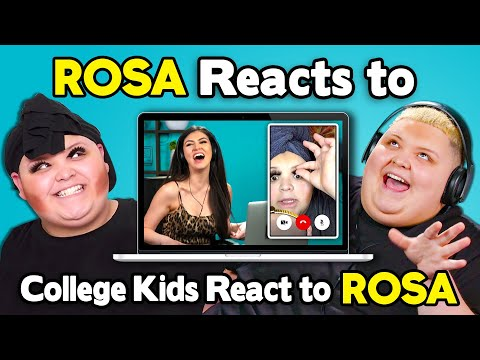 Rosa Reacts To College Kids React To Rosa (TikTok Star AdamRayOkay)