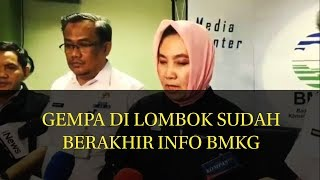Download Video GEMPA DI LOMBOK SUDAH BERAKHIR INFO BMKG MP3 3GP MP4