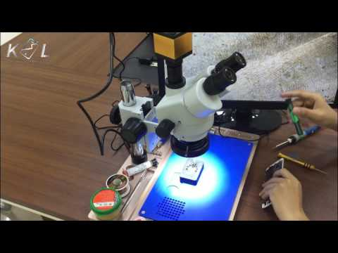 how to refurbish  Repair default function iPhone 7 Home button under microscope