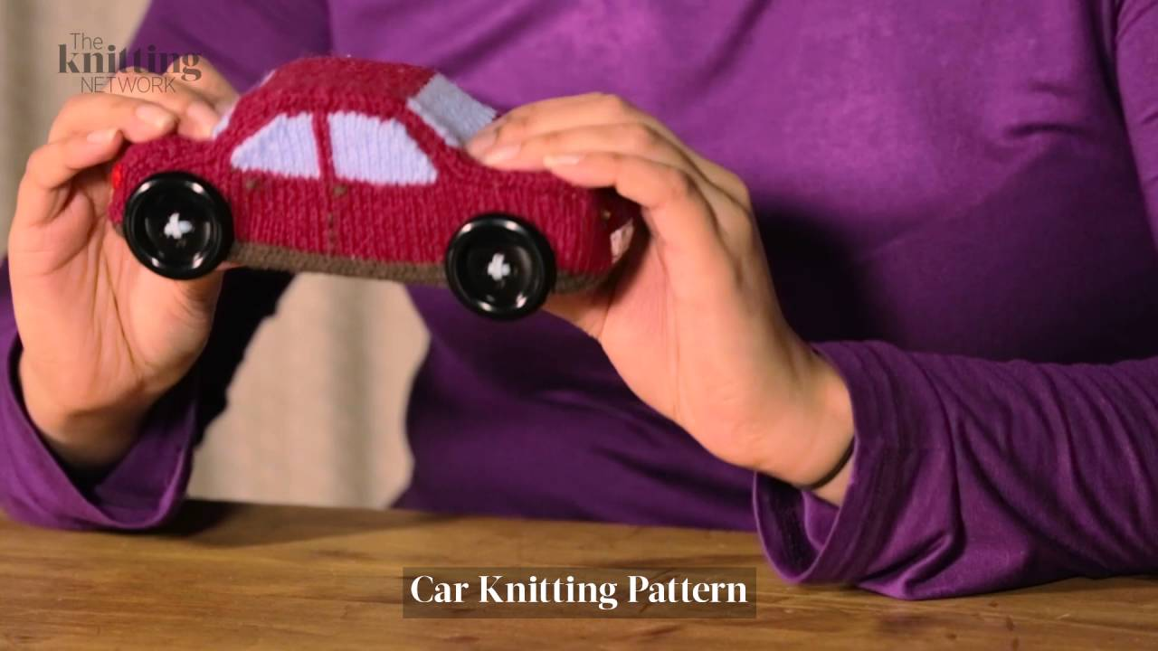 Car Knitting Pattern (The Knitting Network WTD023) - YouTube