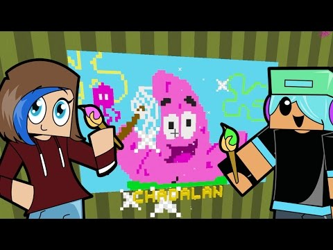 Minecraft / Pixel Painters / Patrick Star and Squidward / Gamer Chad Plays