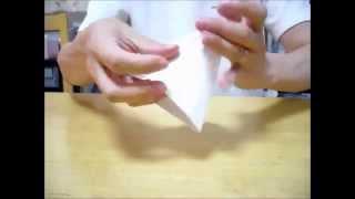 40秒でコピー用紙A4から正四面体を折る方法 A4 ORIGAMI of the Tetrahedron
