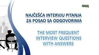 Najčešća intervju pitanja za posao sa odgovorima na engleskom jeziku