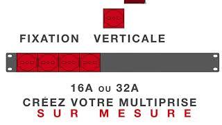 """Unité de distribution de l'alimentation rack 19"""" avec IECLock C13 C19 Lock prise de verrouillageVDE"""