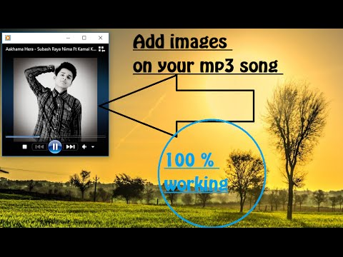 How to add photo on Mp3 file || How to put images on music